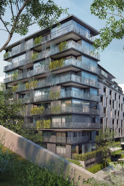 We have designed the New Landhauska Apartment Building