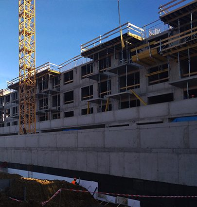 Fotoreport ze stavby bytového domu Zelená Libuš