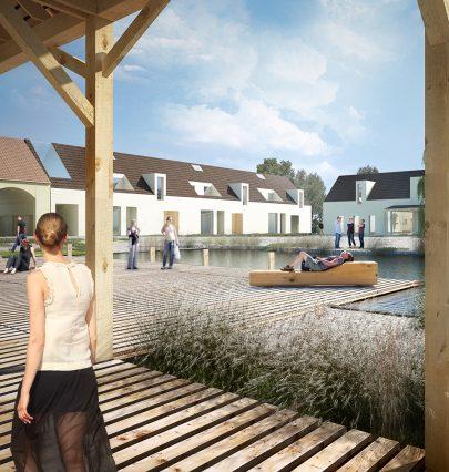 Z bývalého velkostatku vytváříme nové centrum obce Holasovice