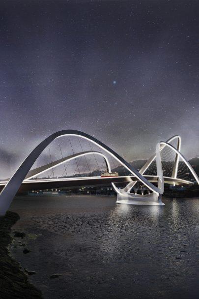 Zúčastnili jsme se architektonické soutěži o návrh Dvoreckého mostu