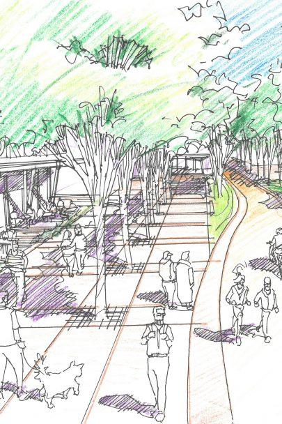Pro centrální část Smíchov City jsme navrhli vitální veřejný prostor