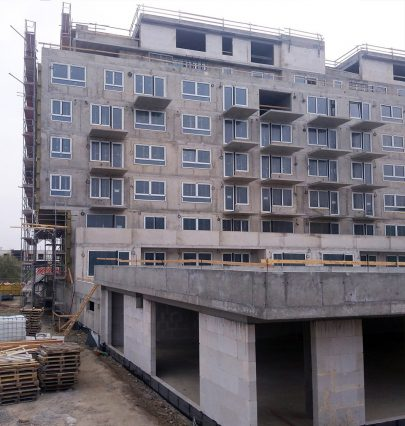 The construction of Zelená Libuš Apartment Building designed by our studio continues