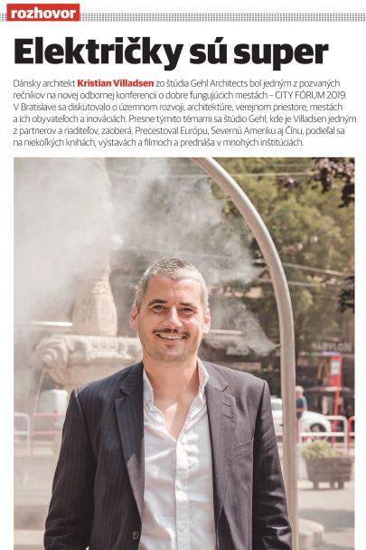 Rozhovor s dánským architektem Kristianem Villadsenem o architektuře, rozvoji měst a veřejném prostoru