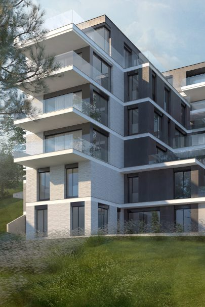 New apartment building K Závěrce designed by our studio will be constructed in Smíchov, Prague