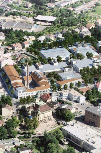 Náš návrh a regulační plán revitalizace brownfieldu Perla 01 v Ústí nad Orlicí usiluje o titul Urbanistický projekt roku 2019