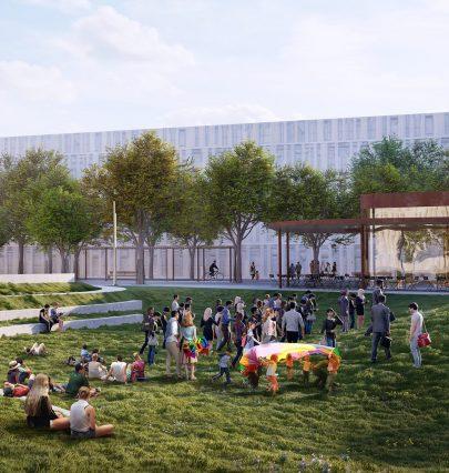 Deník E15 píše: Horolezecká stěna, cyklostezka, letní divadlo. Tak bude vypadat veřejný prostor Nového Smíchova