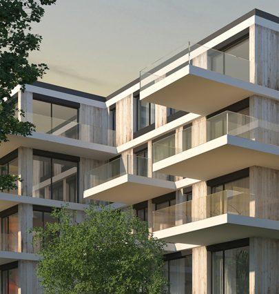 V pražských Záběhlicích jsme navrhli bytový dům, doplňující urbanistickou strukturu Nového Spořilova