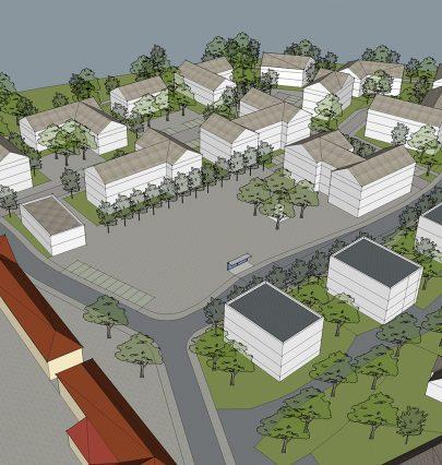 Navrhli jsme novou polyfunkční výstavbu s vitálním veřejným prostorem obce Modletice