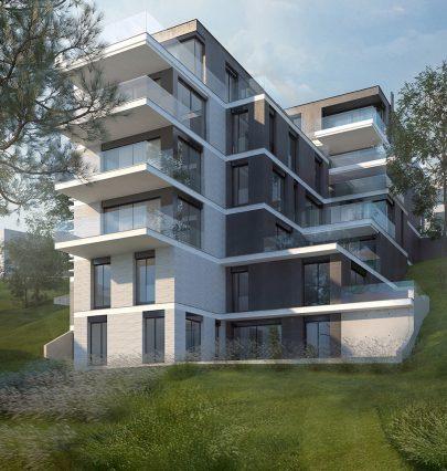 Na jižním úbočí Dívčích Hradů v Praze 5 vyroste rezidence K Závěrce podle našeho návrhu a projektu.