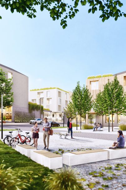 Our design of revitalization of a part of Žďár nad Sázavou near the city centre won the architectural and urban competition