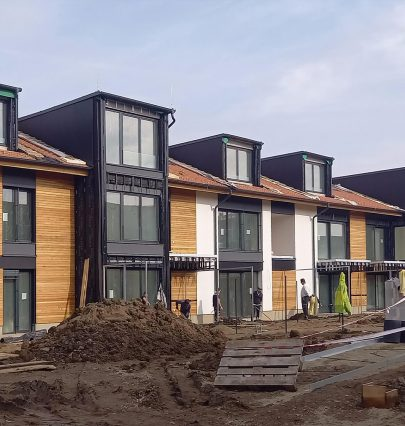 Apartments in historic chateau development near completion