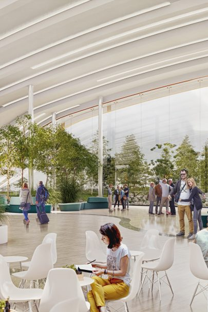 We propose plans for a high speed rail terminal in Prague