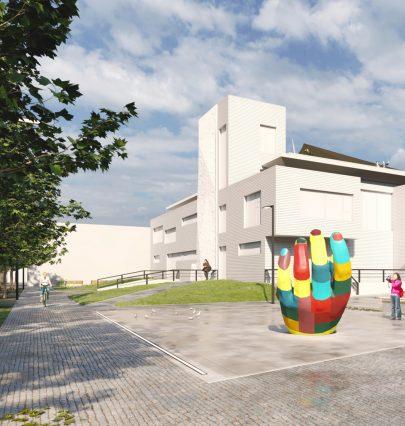 Veřejný prostor v sousedství Domu dětí a mládeže v Ústí nad Orlicí ožije s návštěvníky festivalu Sculpture Line