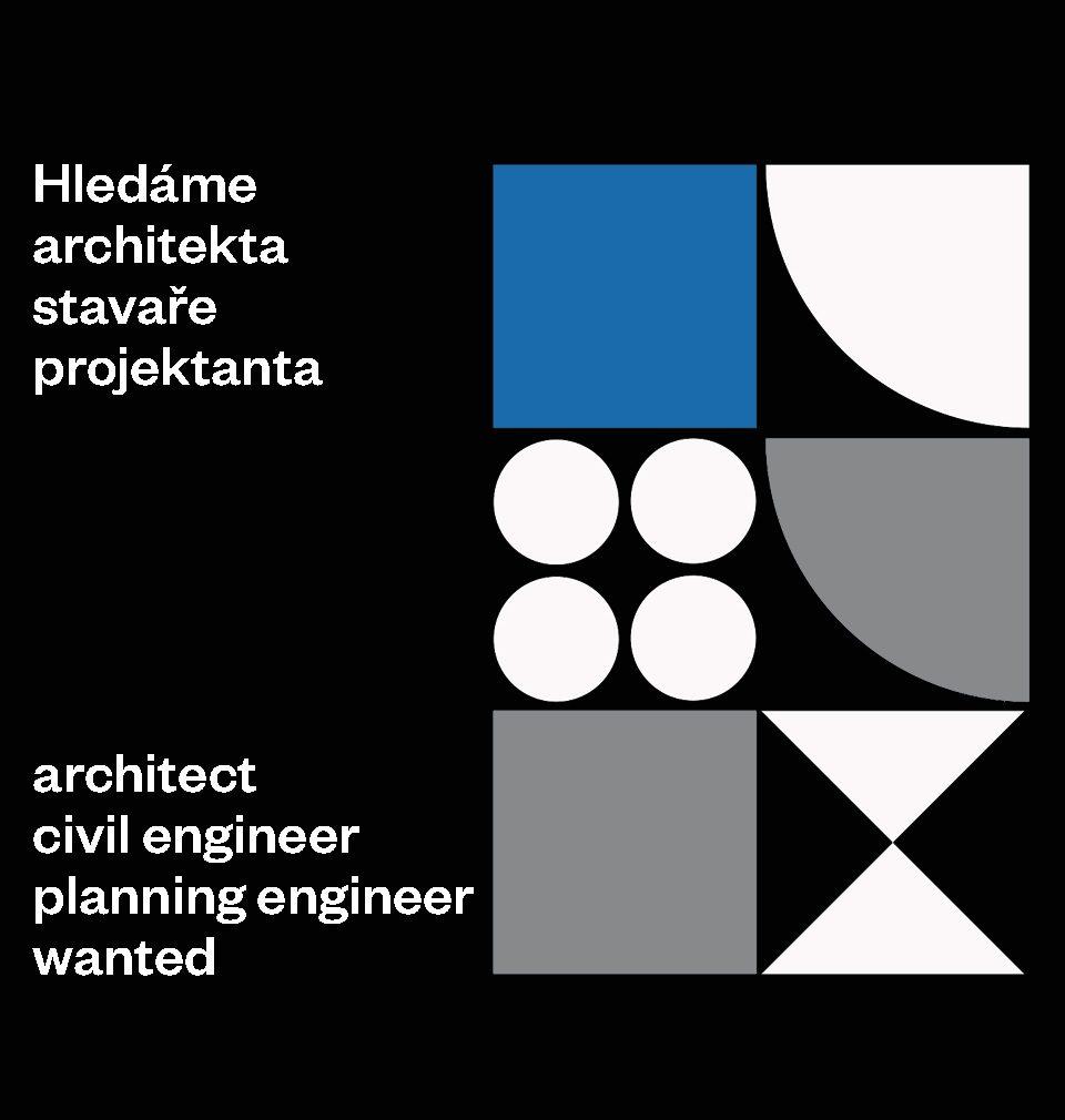 Hledáme nové kolegy architekty, stavaře nebo projektanty
