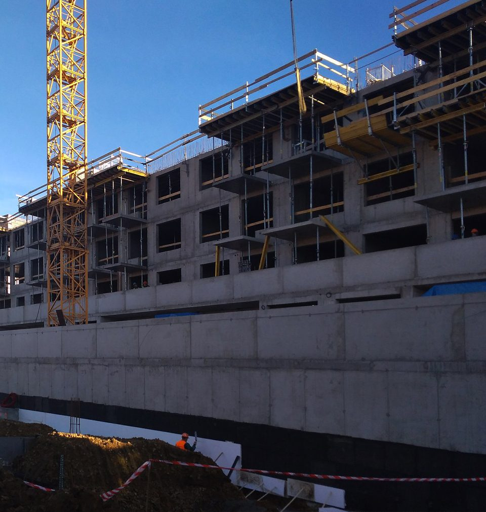 Photoreport from the construction of Zelená Libuš Apartment Building