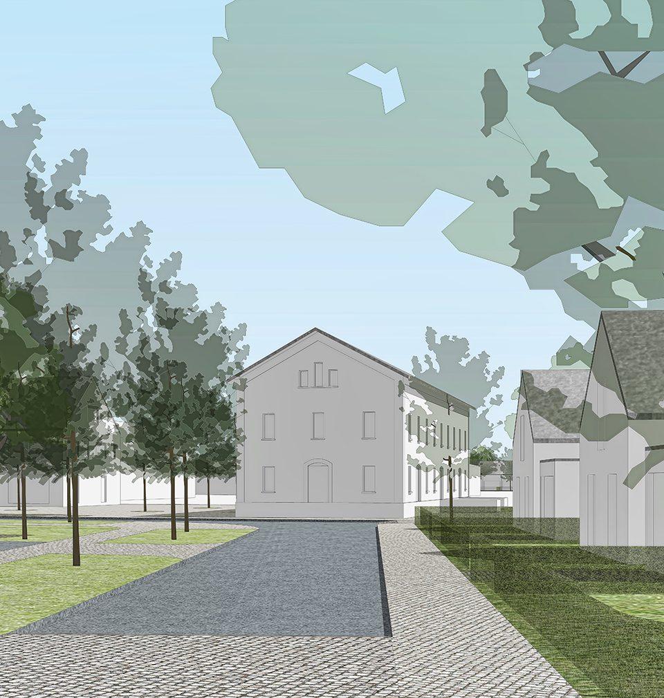 Dvě dosud oddělené obce jsem propojili sídelní strukturou a vitálním veřejným prostorem s neopakovatelným géniem loci