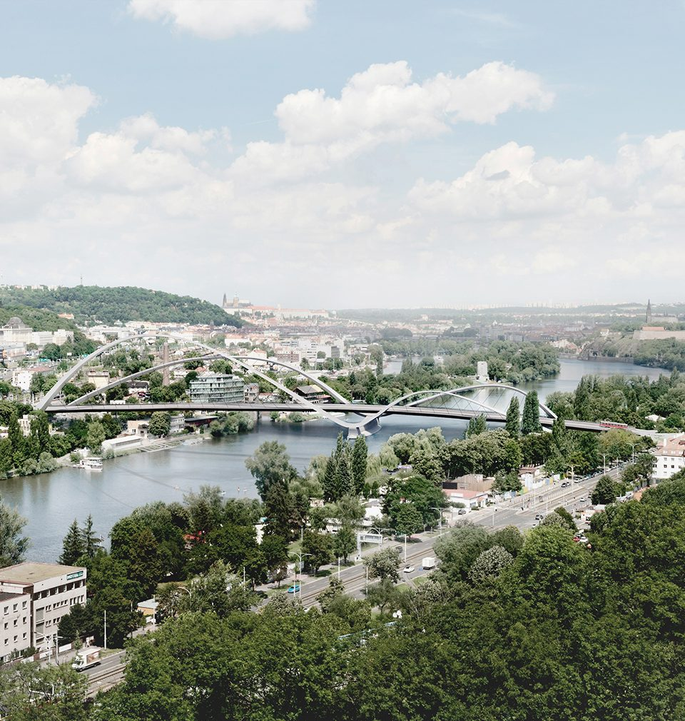We have participated in the architectural competition for the design of Dvorecký Bridge