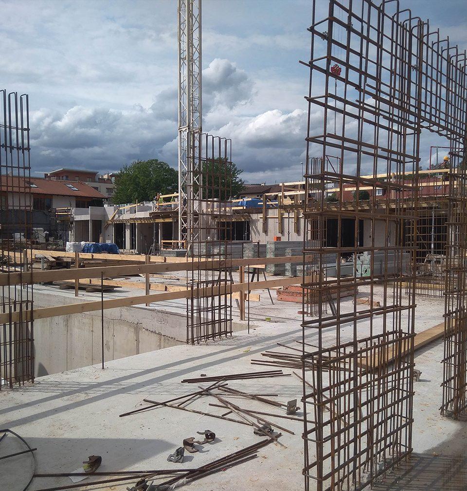 Fotoreport z výstavby I. etapy Jinonického dvora podle našeho návrhu a projektu