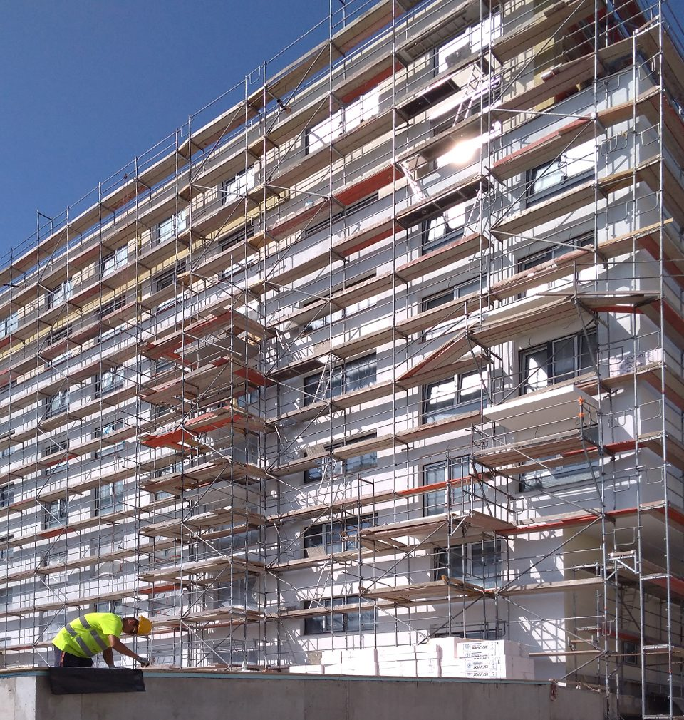 Construction of the Zelená Libuš apartment building with 66 apartments designed by our studio is at full swing
