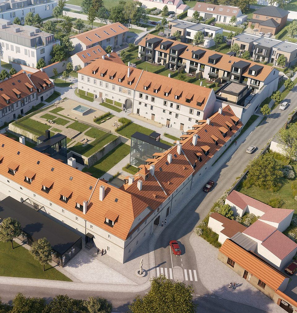 Construction of twenty roomy apartments at Jinonický dvůr designed by our studio proceeds as planned