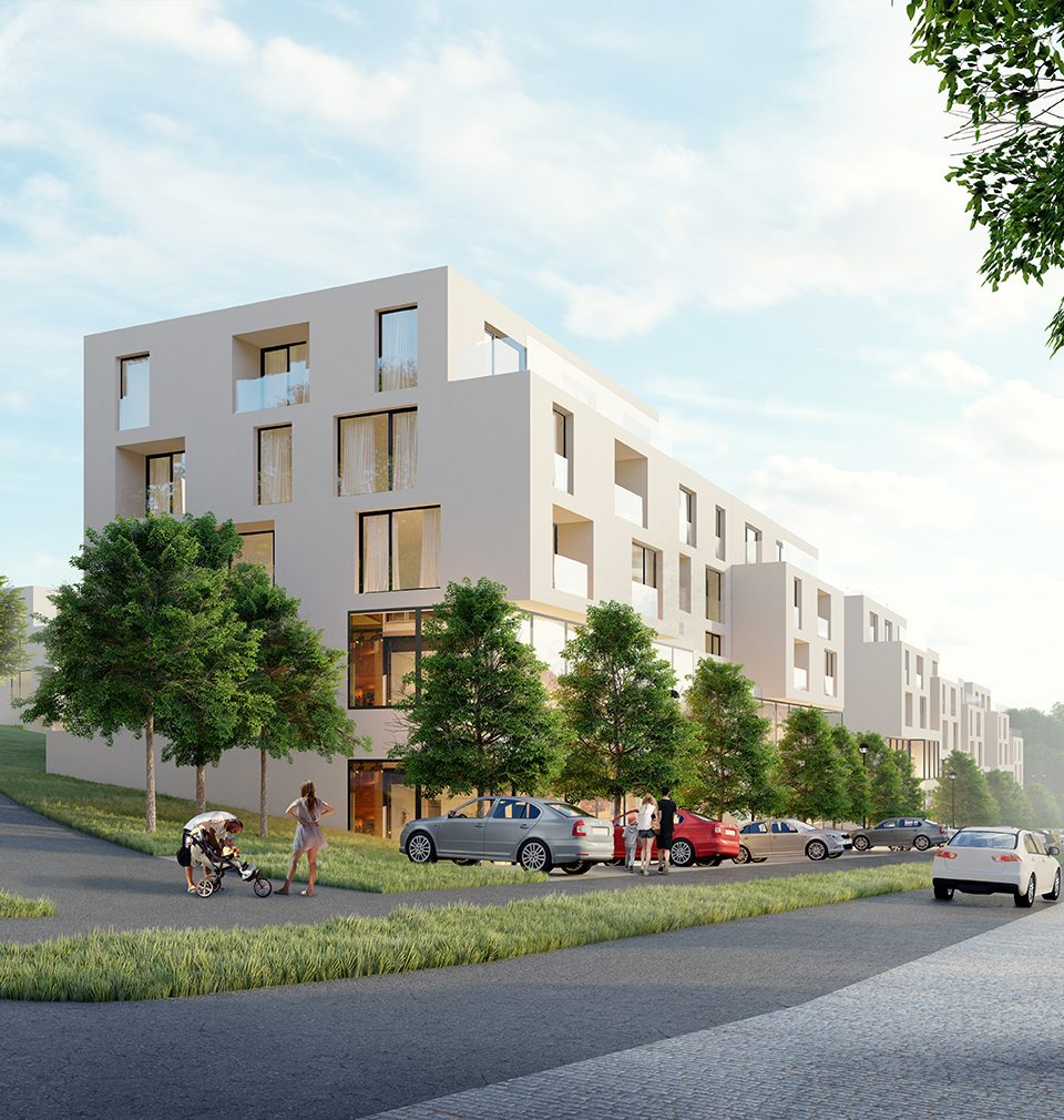 We designed a new residential complex Na Balkáně