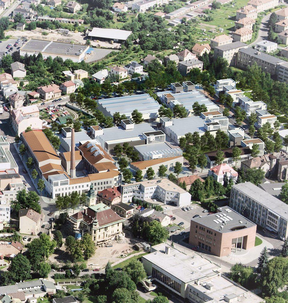 V revitalizovaném areálu Perla 01 navrhujeme i revitalizaci Janákovi budovy s aktivním parterem a flexibilními prostory
