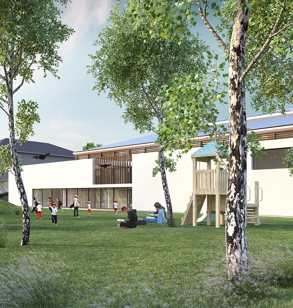 We have expanded the area of primary and nursery school in the village of Žabeň by building sports facilities.