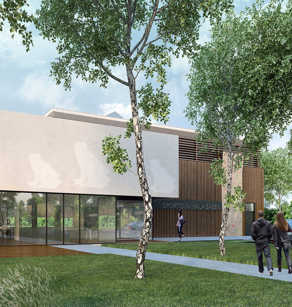 Rozšířili jsme areál základní a mateřské školy obce Žabeň vybudováním sportovního zázemí