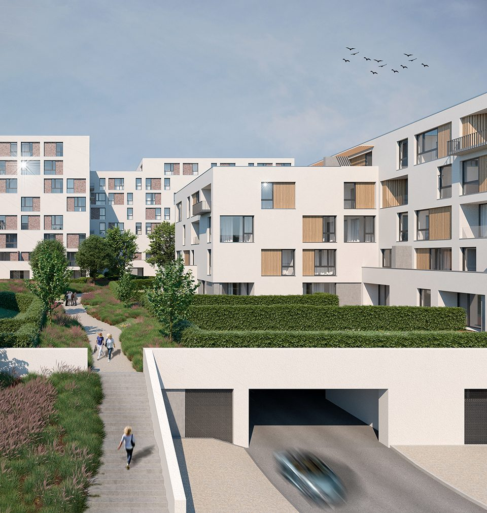 Park Rokytka is our design of a new residential location in Prague