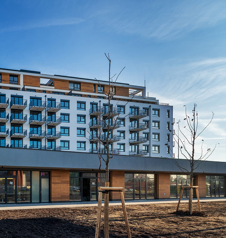 The construction of Zelená Libuš Apartment Building designed by our studio has been completed