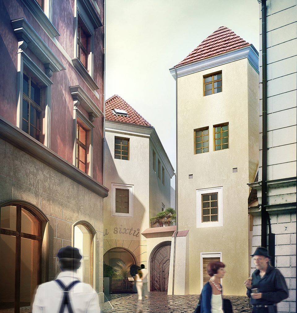 The construction of the U Sixtů hotel as designed by our studio is coming alive at Staroměstské náměstí in Prague after decades
