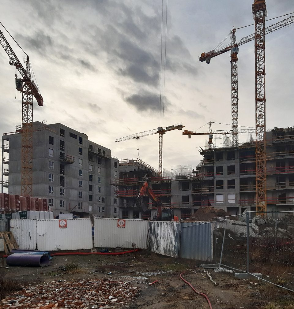 Výstavba nové čtvrti Na Vackově podle našeho masterplanu pokračuje podle plánu