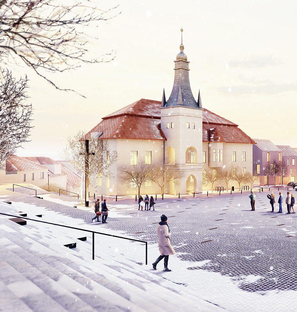 Zveme Vás do Tišnova na vernisáž návrhů architektonické soutěže Revitalizace místního náměstí Míru.