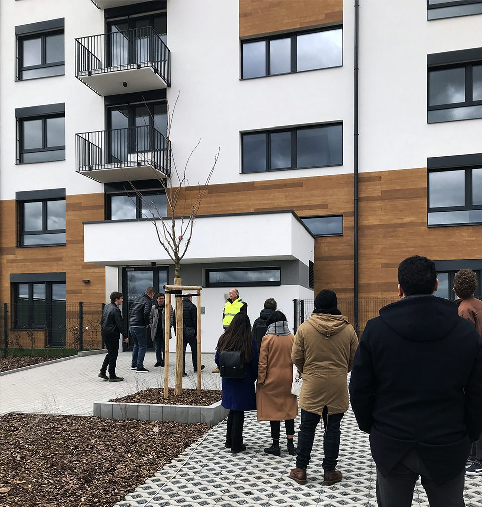 We visited the new apartment building - Zelená Libuš - constructed in accordance with our design and certified for occupation