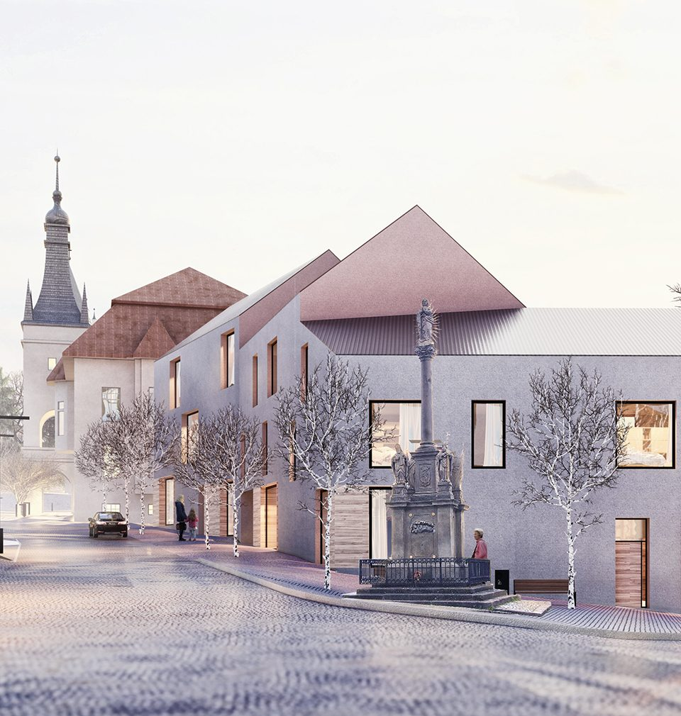 Stavbaweb.cz published an article about our competition entry - design of the Peace Square revitalization in Tišnov