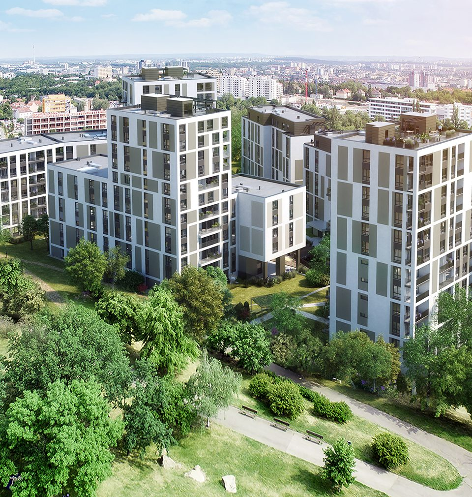 Na Vackově, a new quarter near the Freight Railway Station in Žižkov, is under construction in several stages in accordance with our master plan