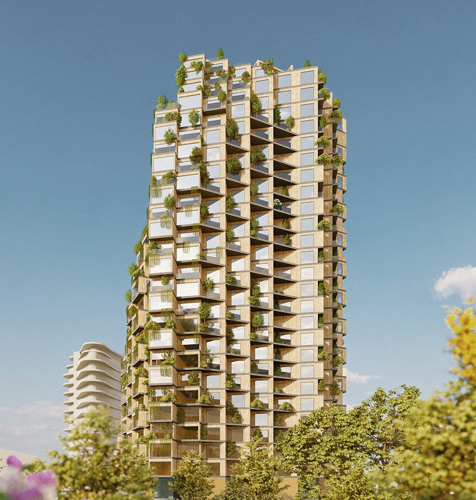 The concept of residential towers for Prague
