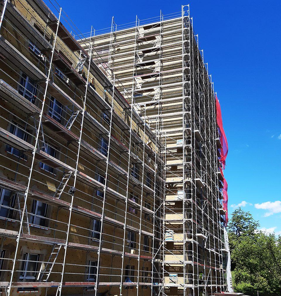 Výstavba Na pražském Vackově pokračuje podle plánu, dokonce se už rýsují některé fasády