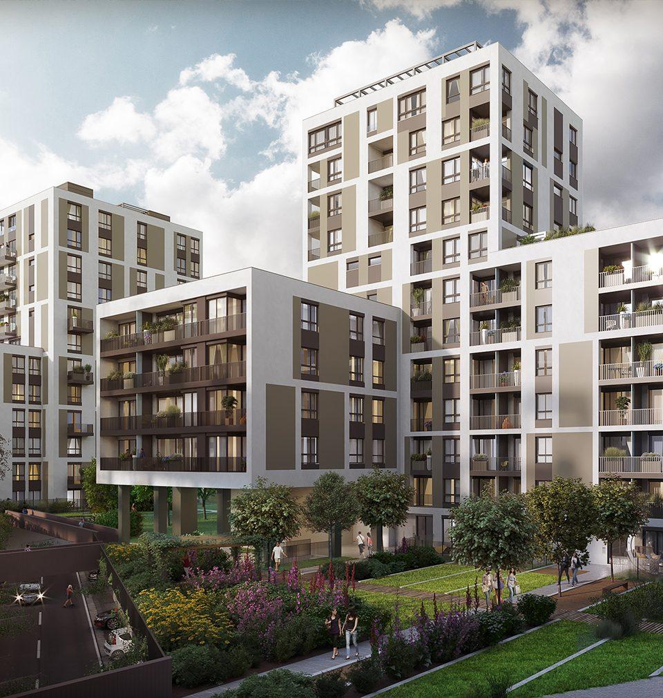 Na pražském Vackově vzniká nová čtvrť podle našeho návrhu a projektu, která nabídne kvalitní veřejný prostor v parteru a bydlení vysokého standardu