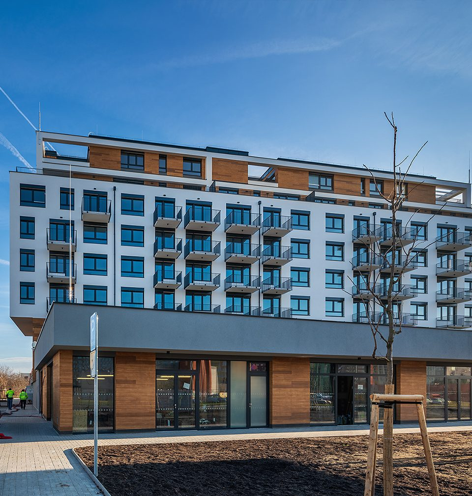 Bytový dům Zelená Libuš podle našeho návrhu a projektu se uchází o titul Zelená střecha roku 2020