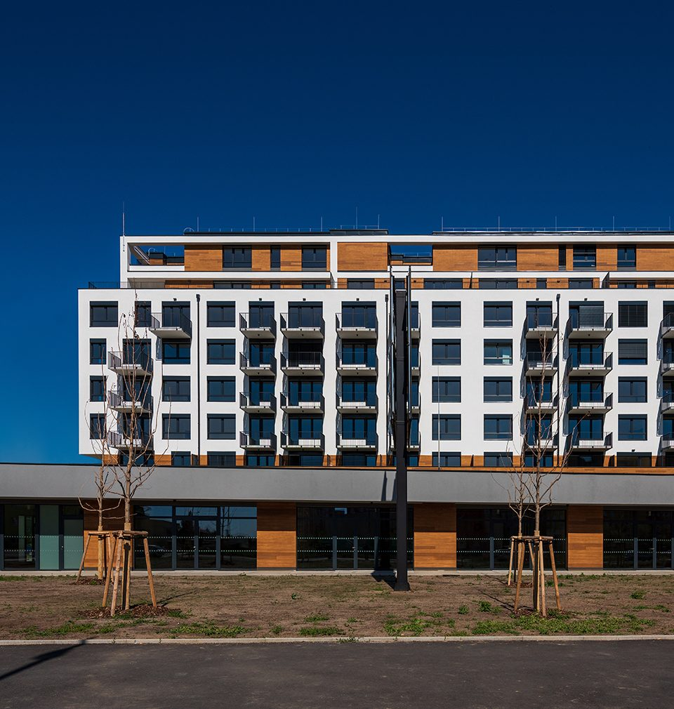 Zelená Libuš apartment building designed by our studio competes for the Green Roof of 2020 title