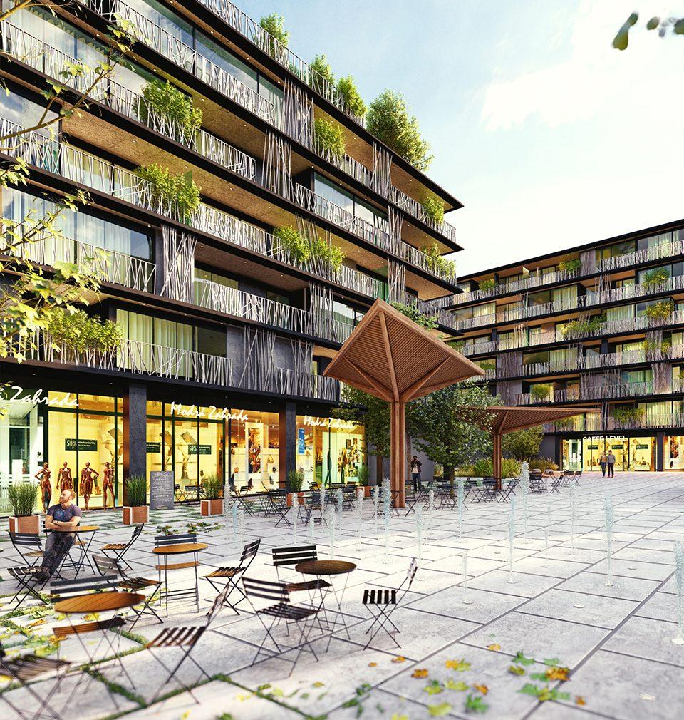Kvalitní veřejný prostor, různé kategorie bytů i nové náměstí. To je náš návrh nové rezidenční struktura v širším centru Prahy