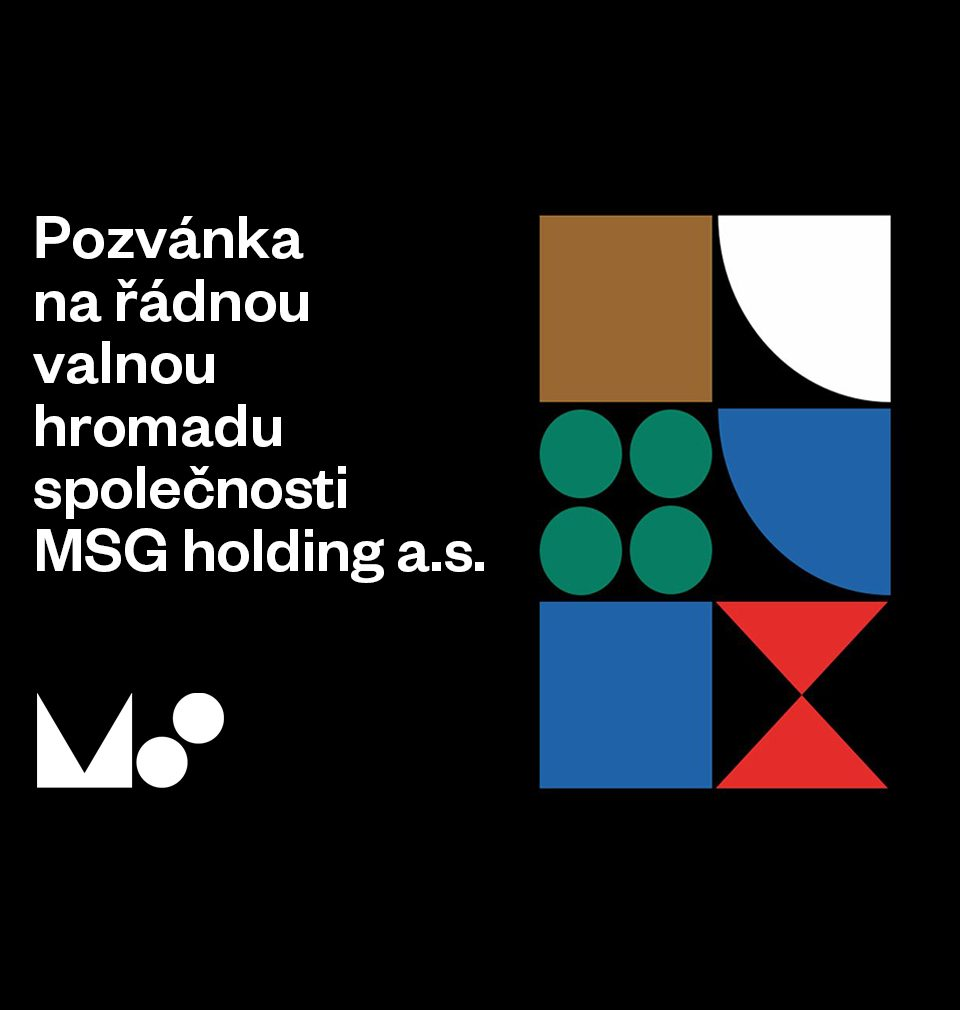 Pozvánka na Valnou hromadu MSG holding a.s.