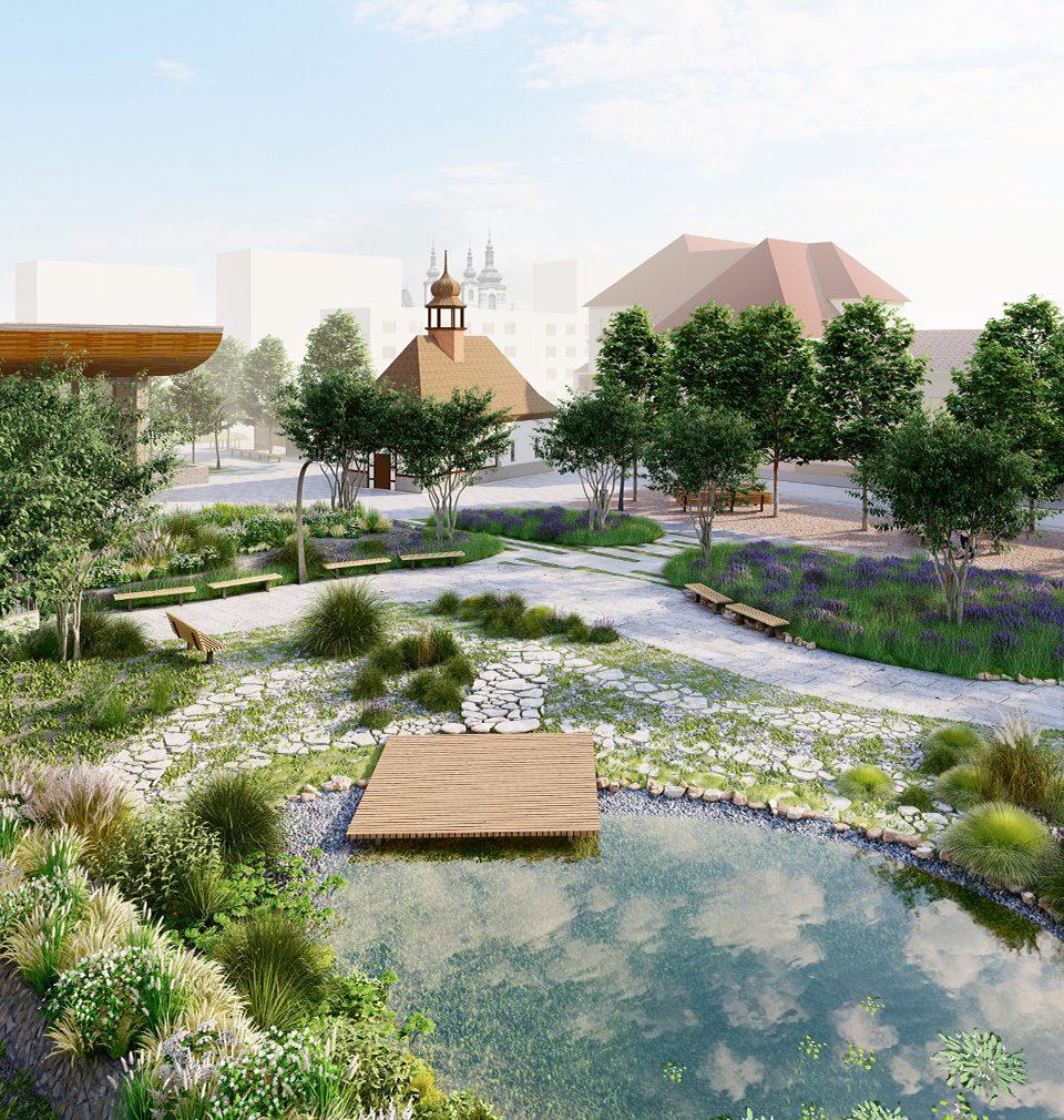 Navrhli jsme obnovu jedinečné atmosféry Havlíčkova náměstí v Žatci
