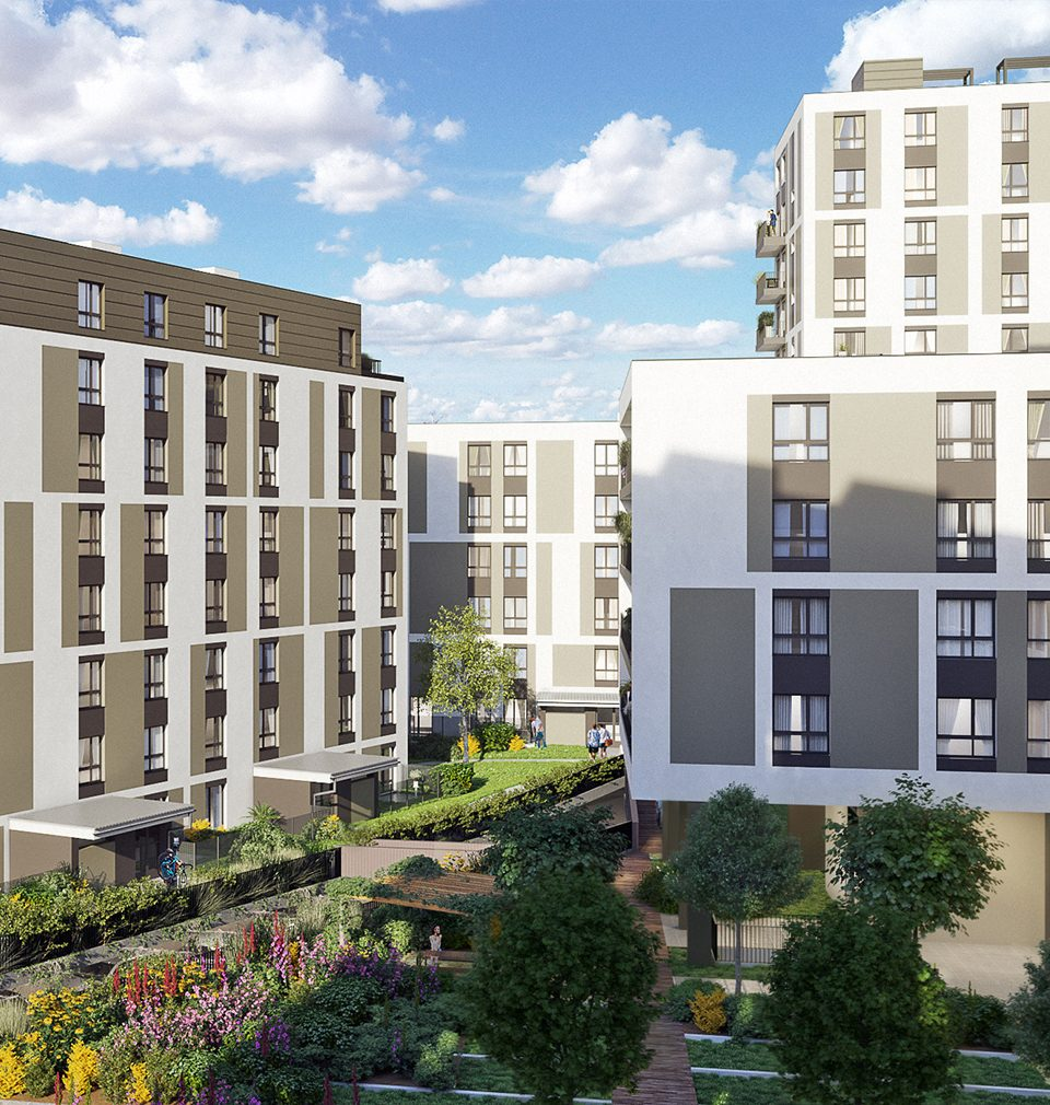 Výstavba nové čtvrti Na pražském Vackově pokračuje
