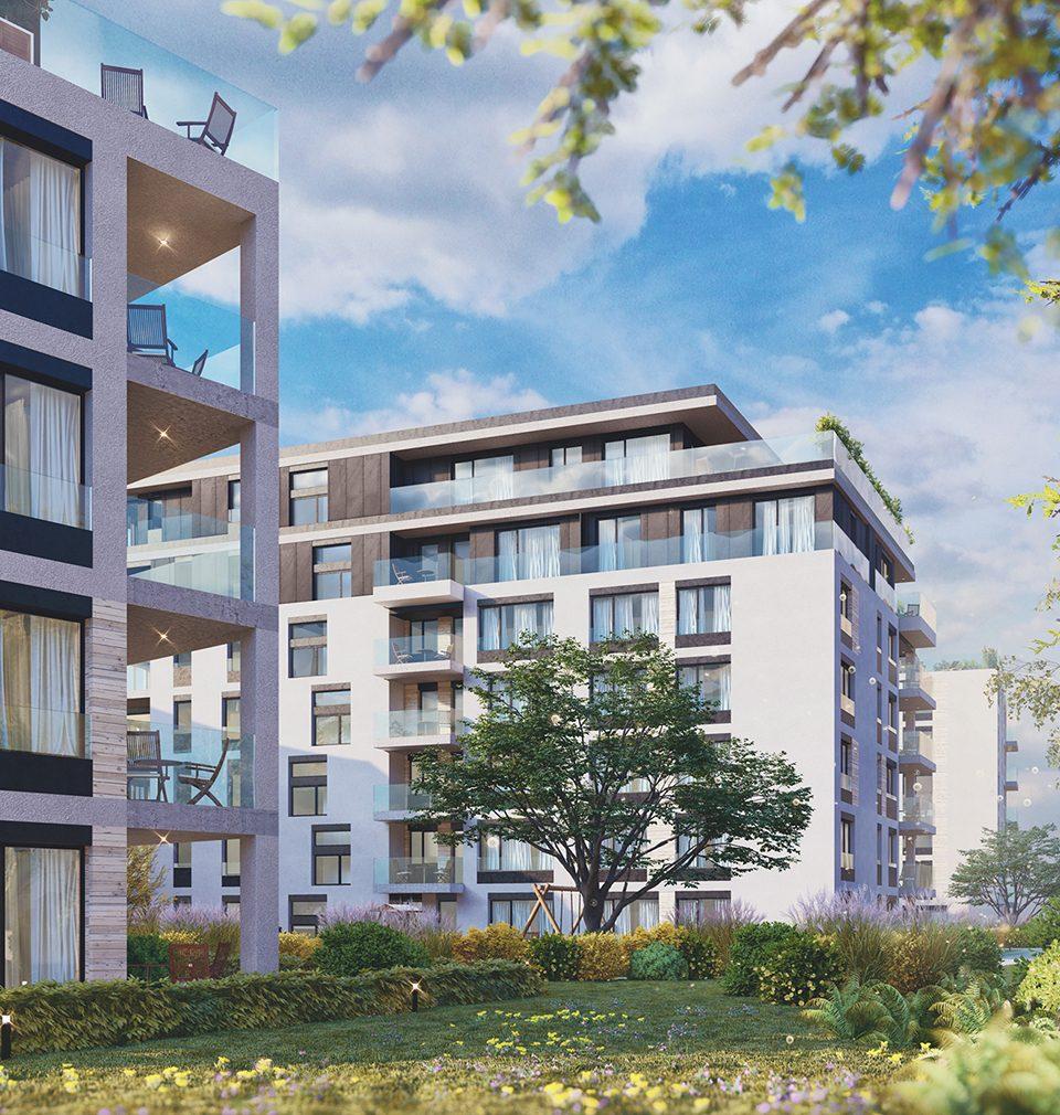 Náš návrh bytových domů s aktivním parterem mění nároží křižovatky Ohrada v Praze v nové, přívětivé náměstí