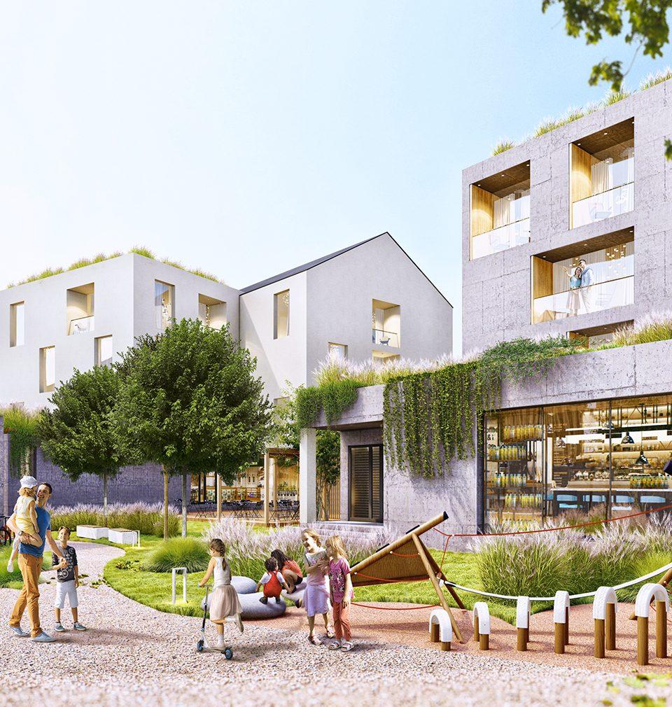 Earch.cz píše: Nová tržnice, náměstí, bydlení i služby. To vše má přinést vítězný návrh Atelieru MS plan do centra vysočinského města