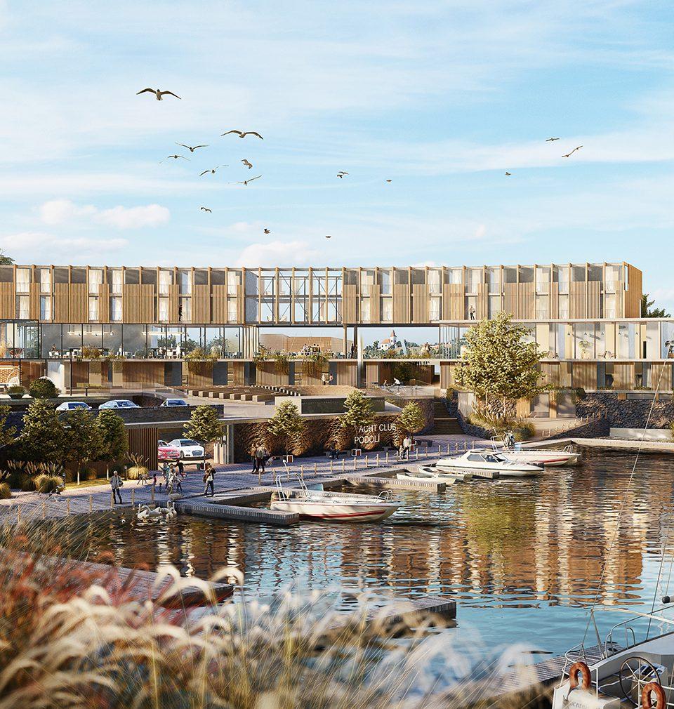 Stavbaweb.cz píše: MS architekti navrhli kompletní revitalizaci Podolského přístavu