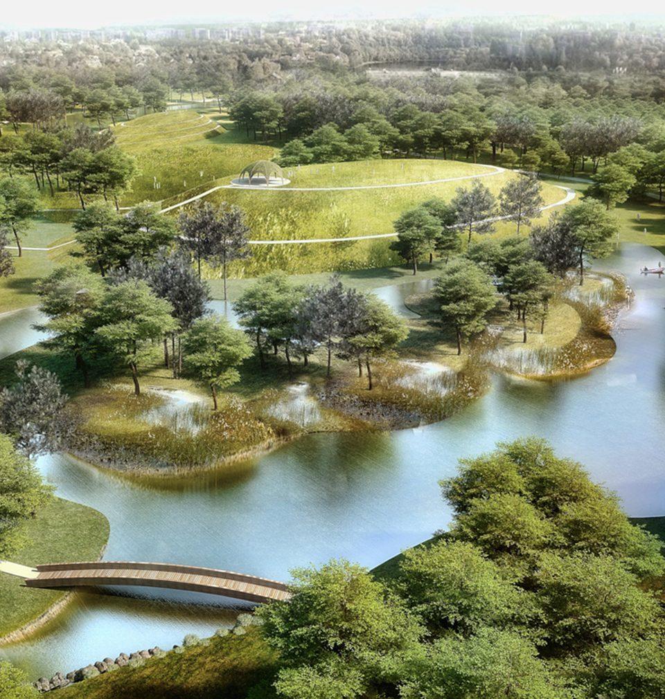 Jen pár kroků od centra města Bohumín jsme navrhli atraktivní lesopark pro volnočasové aktivity, rekreaci i sport