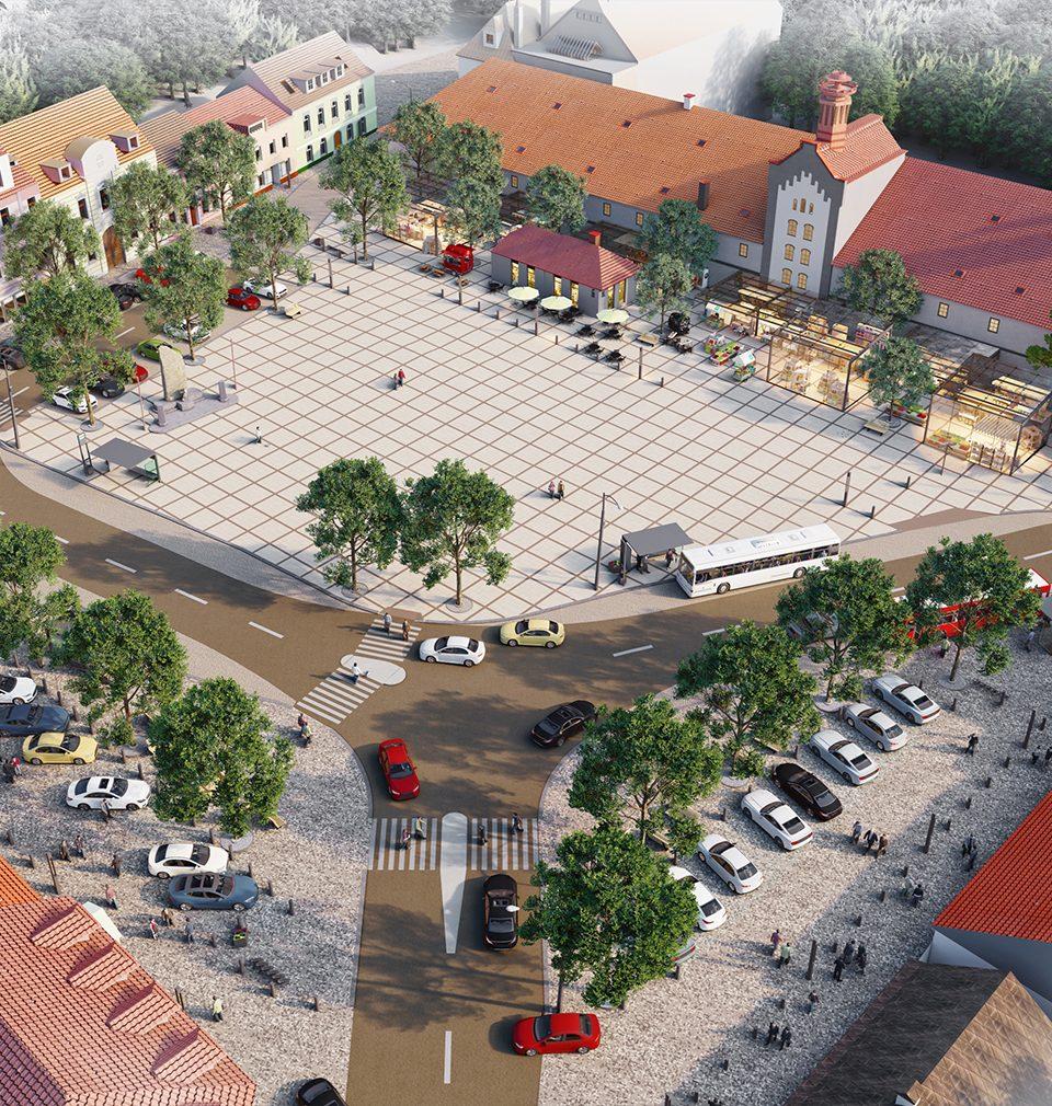 Proposed regeneration of Zbraslav Square